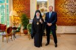 08-11-2019 Palace King Willem-Alexander during an audience with the Ecumenical Patriarch Bartholomew at palace Huis ten Bosch in The Hague. 