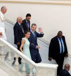 13-11-2019 Havana King Felipe and Queen Letizia after a meeting with the Spanish collectivity in the country in Havana on the 2nd day of the 4 day visit to Cuba.