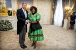 13-11-2019 Presentation of the credentials of the ambassador of the Republic of Zambia, H.E. Esther Muketwa Munalula Nkandu to King Willem-Alexander at Noordeinde palace in The Hague.