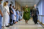 17-11-2020 Belgium Queen Mathilde of Belgium and King Philippe - Filip of Belgium pictured at a royal visit to the 'Centre Hospitalier Bois de l'Abbaye' hospital in Seraing, Liege province.