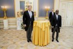 25-11-2020 Presentation of the credentials of the ambassador of the Republic of Rwanda, H.E. Mr Oliver Jean Patrick Nduhungirehe to King Willem-Alexander at Noordeinde palace in The Hague
