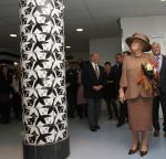 25-10-2011 Baarn Queen Beatrix at the opening of the new Waldheim-mavo and, her old school, the Baarnsch Lyceum in Baarn. The Queen, an old student at the Baarnsche Lyseum, went from april 1950 till 1056 to school and graduated at the gymnasium-A. Her 2 eldest sons were also students at the Lyseum.  (c) PPE/v.d. Werf  PPE-Agency/Edwin Veloo www.ppe-agency.com  Anemonenweg 52 2241 XM Wassenaar M. 06-43497725 F 084-7384869  If you have any questions please call or e-mail us with your inquiries