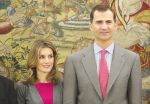 27-10-2011 Madrid Princess Letizia and Prince Felipe attend an audience with representatives of the