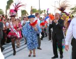 28-10-2011 Festival Queen Beatrix and Prince Willem-Alexander dancing during the visit to Aruba. Day 1 of the 10 day visit to the Caribbean part of the Dutch Kingdom. ( Former Antilles/West/Antillen) A visit to the Fiesta popular mulitcultural music festival at Linear park and a reception with the Governor.  (c) PPE/Nieboer  PPE-Agency/Edwin Veloo www.ppe-agency.com  Anemonenweg 52 2241 XM Wassenaar M. 06-43497725 F 084-7384869  If you have any questions please call or e-mail us with your inquiries