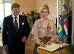 14-10-2013 Parliament Queen Maxima and King Willem-Alexander visiting the Swedisch Parliament in Stockholm, Sweden.  © PPE/Nieboer/pool