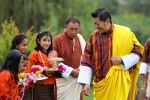 30-09-2017 Bhutan King Jigme Khesar Namgyel Wangchuck celebrated to mark the victory of King Rama, an incarnation of Vishnu, over the demon Ravana. Rama is said to have prayed to Goddess Durga, to assist in the victory of good over evil.