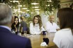 03-10-2017 Jordan Queen Rania tours The Abdul Hameed Shoman Foundation Amman, Jordan.  