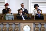 03-10-2017 Denmark Queen Margrethe, Princess Mary, Prince Frederik,  Princess Marie, Prince Joachim and Princess Benedikte attends the Parliament's opening at Christiansborg Palace, Copenhagen.
