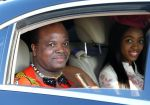 23-10-2019 Russia King Mswati III of Eswatini gets in a car at Sochi International Airport as he arrives to take part in the 2019 Russia-Africa Summit.