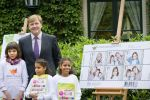 25-09-2012 Wassenaar Prince Willem-Alexander, with Daimy, Fabienne en Felicia, at the start of the children stamps campaign ( Kinderpostzegels) 2012 at his home, de Eikenhorst, in Wassenaar. The Prince photographed his daughters, Amalia, Alexia and Ariane for this years children stamps. More that 200.000 children sell the stamps, door to door. The Prince followed his father, late Prince Claus, who took photos of his 3 sons, 40 years ago.   (c) PPE/Nieboer/pool   PPE-Agency/Edwin Veloo www.ppe-agency.com  Anemonenweg 52 2241 XM Wassenaar M. 06-43497725    If you have any questions please call or e-mail us with your inquiries