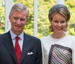 24-09-2013 Limburg King Filip ( Philippe) and Queen Mathilde during the blijde intredes tour in Hasselt.  © PPE/Nieboer