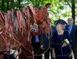 04-09-2014 Doorn Princess Beatrix at the opening of Pavilion Netherlands and the 1st World War at the estate Huis Doorn, the former house of Kaiser Wilhelm II.  The exhibition, based on 5 themes, pictures the daily life in the years 19104-1918.   © PPE/Nieboer